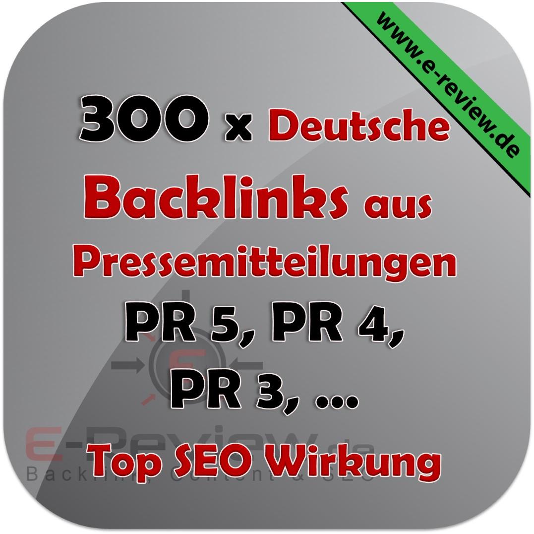 300 Pressemitteilung Backlinks