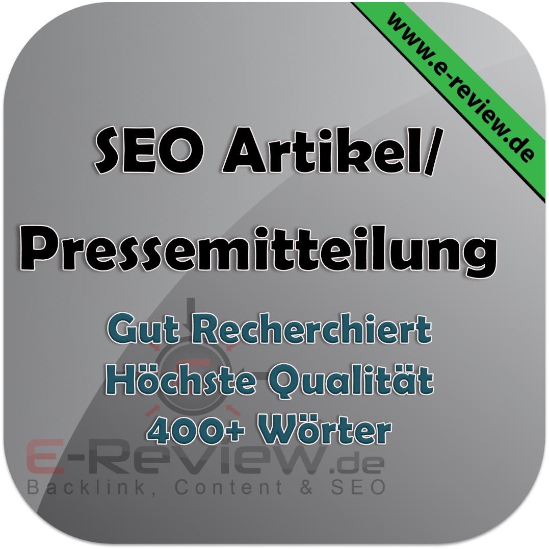 Deutscher Artikel Pressemitteilung